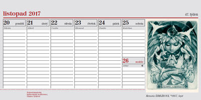 Kalendář 2017, ukázka